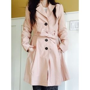 H&M Light Pink Trench Coat
